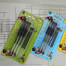 F128 plastic gel ink pens/Best writing instruments 0.5mm black ink gel pen /Cheap gel pen for promotion