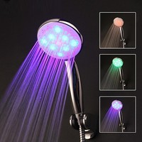 RGB Color Digital Water Temperature Visualizer 8 LED Shower Head