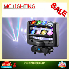 new 8x10w rgbw 4in1 Double Row Sharpy Beam spider light led beam moving head