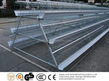 Galvanized 3-Tier Egg Laying Hen Battery Cage