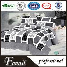 China wholesale Black&White square vogue ZheJiang Email trade quilt bedding set