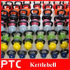 Color plastic vinyl kettlebell in weight lifitng