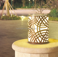 pl 3376 solar powered led strip lights pillar light for parks gardens hotels walls villas