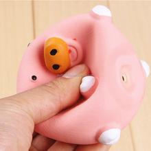 round pig custom soft vinyl toy, pinky pig make soft vinyl figure, vinyl piggy soft toy