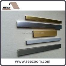 Aluminum wall ceramic decorative border trim