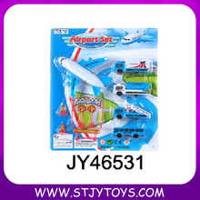 Cheap Updated Toy Kid Plastic Mini Toy Pull Back Airport Play Set for Kids