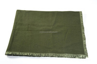 warm wool blanket olive green army blanket