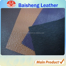 Huadu pvc knitted leather materials to make sofa,imitation leather fabric