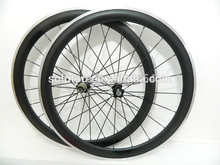 700c 50mm Clincher Carbon aluminum wheelset 25mm rim wide carbon fiber bicycle wheel alloy brake surface
