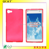 TPU Case Print Logo Soft TPU Clear Crystal Mobile Phone Case Cover Without Texture for Sony Z5 Compact Z5 MINI E5803 E5823 s60