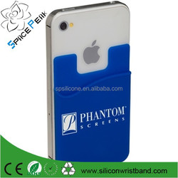 Full sublimated Cheap 3M Sticker Silicone smart phone wallet for smartphone