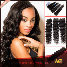 alibaba french china, 2015 new products deep wave 1# color hair extension