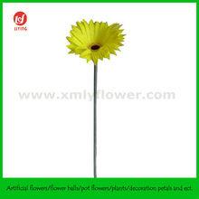 """21"""" Yellow Artificial PU Daisy Flower"""