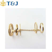 >>Hot selling gold plated Midi Mid Nail Finger Rings for women Joint Ring Set /