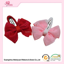 Wholesale girls sheer /grosgrain butterfly hair clip