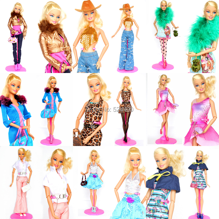 Tons 5 Units Outfit Distinctive Design Handmade Doll Clothes Clothes Go well with Coat Pants Equipment For Kurhn Barbie Doll Ladies Reward