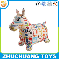 giant pvc inflatable cartoon animals ride horse painting