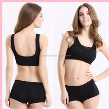 America-Today nylon spandex mesh insert women padded sports bra