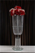 Clear Wedding Decoration and wedding stand flower for Crystal Candle Holder