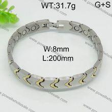 High class wholesale men black diamond bracelet