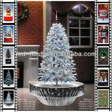 Smart Design christmas decoration Steady LED , Big Christmas Snowing Tree Gifts with Frame Supported Shadow Base