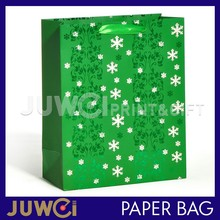 Customized High Quality And Fancy Printed Christmas Luxury Brown Paper Shopping Bag With Logo