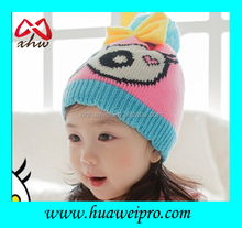 Cheap funny knit cotton handmade baby hat cute lovely kids beanie hats