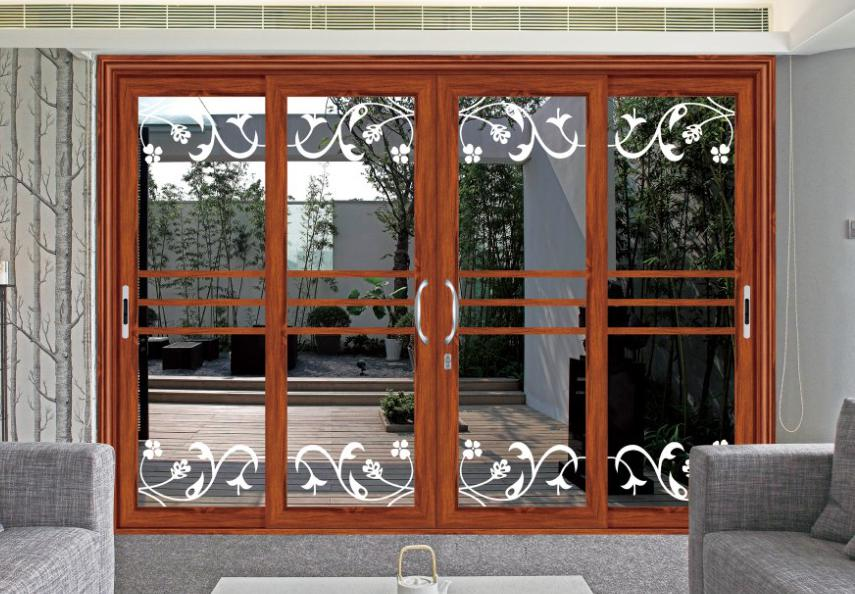 Aluminum three panel standard sliding glass door size for Three pane sliding glass door