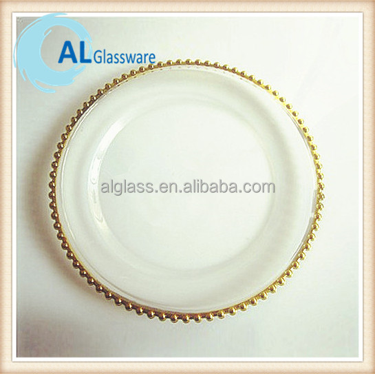 gold silver glass beaded charger plate wholesale buy beaded charger plate wholesale glass