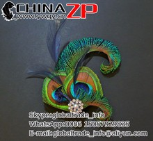 Amazing plume hair Accessory wholesale cheap Navy Dark Blue Peacock Feather Hair Clip