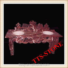 Red Marble Stone Carving Basin