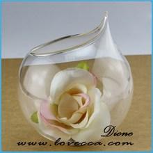 Preço de fábrica terrário de vidro ornamentos vaso de vidro decorativo transparente bolas de vidro