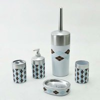 Cylinder Shape with Diamond Design Acrylic Bathroom accessories