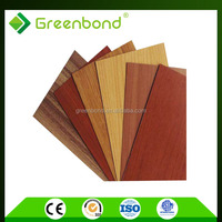 Greenbond aluminium wood facade panel for foil decoration of high quality in taizhou
