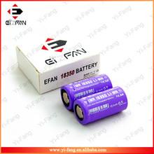 New Purple EFAN High drain IMR 10.5A 18350 700mah 3.7v LiMn battery flat top(1pc)