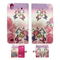 Flip Printed Hybrid Cute PU Leather Wallet case For ZTE z797c