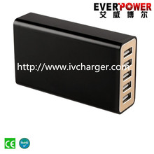 2015 excellent Everpower intelligent identifies devices 40w 5 port fast multiple automatic mobile phone charger