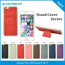 OEM new product wholesale pu leather tpu back case cover smartphone mobile phone case for iphone 6