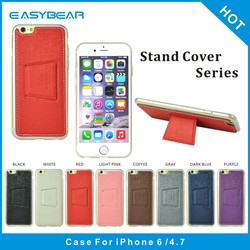 OEM new product wholesale pu leather tpu back smartphone mobile phone case for iphone 6