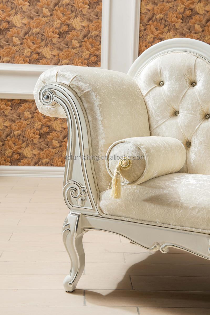 Kb068 colore chiaro fresco romantico beige chaise lounge divano ...