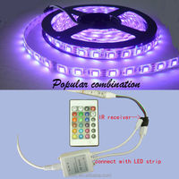 Waterproof flexible SMD 5050 RGB LED strip 5m with 24 key remote controller