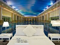 wholesale Eco-friendy 3d huge hotel mural luxurious swimming pool hotel wallpaper murals