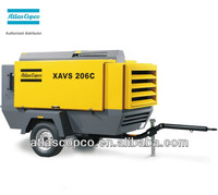 424cfm 14bar XAVS206C Atlas Copco portable air compressor with Cummins diesel engine