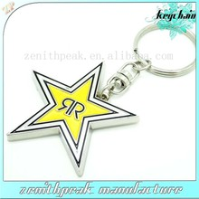 Manufactory production metal star shape key chains, star keyring, star keyholder.
