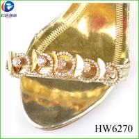 HW6270 fat lady ornaments rhinestone designs shoe accessories