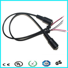 DC cable assembly 5.5mm to 2.1mm female cord