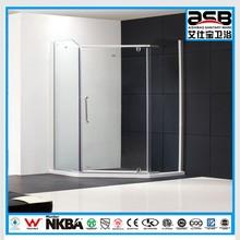 diamond aluminum alloy 8mm tempered glass frame shower combo
