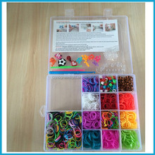 Crazy diy silicone Cheap rainbow style loom rubber bands
