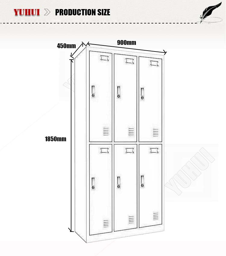 Factory direct sale door metal gym locker steel clothes
