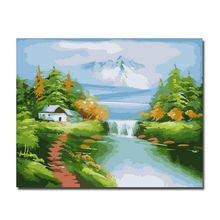 2014 Fashion Calligraphy Dream Valley Paint Oil Painting DIY Paint Oil Painting By Numbers DIY Original Oil Painting